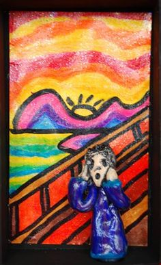 the scream with clay figure from artsonia-gr 3 Young Artist, Art Museum, Clay Figures, Zentangle, Art Projects, Painting, Doodles, Art, Art Parody