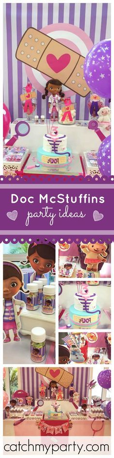 If you're thinking of hosting a Doc McStuffins Birthday Party then you won't want to miss so many cool ideas at this Party! See more party ideas at CatchMyParty.com