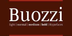 Buozzi (50% discount, from 10,50€) - http://fontsdiscounts.com/buozzi-50-discount-from-11e/