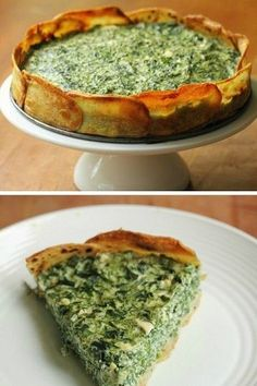Spinach And Spring Herb Torta In A Potato Crust | Yummy Food Ideas