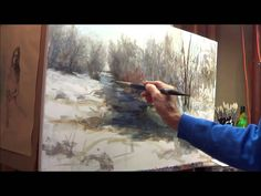 3.5 hour session where I created this oil painting of an outdoor winter scene near my home. Shows the set up considerations, block in and almost every brushs...