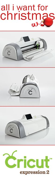 """All I want for Christmas is the Cricut Expression 2...It's for creating those """"I can't believe I made that"""" moments daily! Making it the gift that keeps on giving :)"""
