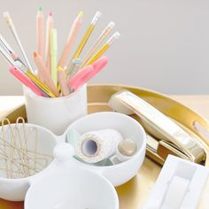 Investing In Stylish Office Supplies Goes A Long Way In Making Your Home  Desk An Inviting