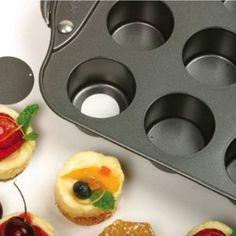 "Norpro Nonstick 12 Mini Cheesecake/Muffin Quiche Cupcake Tarts Pan 2"" Dia New"