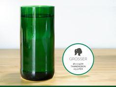 GROSSER / Ø 7-7,5CM / TANNENGRÜN (Glas / Vase) von GLÄSERNE TRANSPARENZ auf DaWanda.com