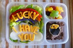 St. Patricks Day Bento Lunch with a message