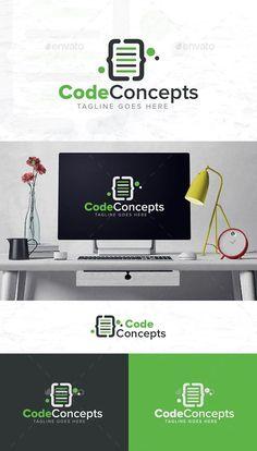 Coding Logo Template Vector EPS Coding Logo, Logo Templates