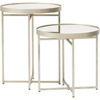 High Fashion Home - Catalog Fall 2015 - Midtown Antique Mirrored Nesting Tables, Set of 2