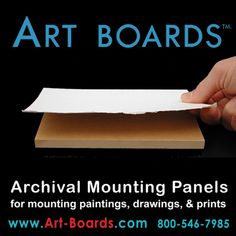 I'm curious to try these - for archival mounting of finished artwork, paper, & canvas.
