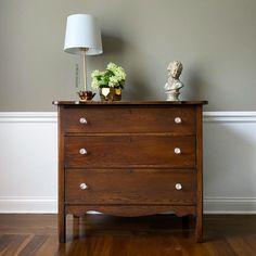 Antique Walnut Gel Stain Oak Dresser | General Finishes Design Center