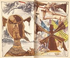 don quixote illustrations - salvador dalí, 1946 edition [link to series of images]