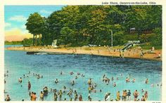 """In the 1950′s & 60′s, Geneva On The Lake was """"The Place"""" to go for the Summer. Geneva had it all. On the Geneva strip, there was a mile of shops, restaurants, attractions, an amusement park,Eddie's Grill, Madsen Donuts, Firehouse Winery, & Time Square restaurant.Geneva was where all the cool kids hung out, including many motorcycle gangs that would congregate on the strip..Below the strip was Lake Erie & miles of white sandy beaches & a pier.The water was clear"""