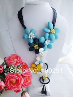 free shipping!!! A-875 Sunny Shell Beads jewelry Necklace African Wedding necklace  $61.99