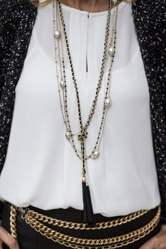 Check out our beautiful Chanel inspired necklace set featured on my blog this week and available in our shop www.jacketsociety.com