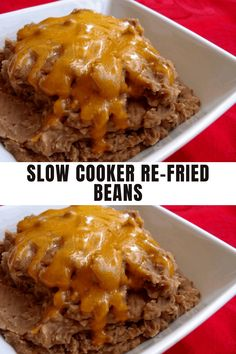 Ingredients 2 cups dried pinto beans, rinsed and picked over for stones or debris 6 cups water (enough to cover beans plus 2 inches) 1 tsp salt #slowcooker #beans #recipe