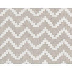Zig Fabric- White Fabric- Linen Fabric- Fabric By The Metre- Geometric fabric…