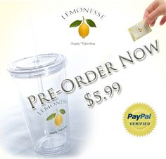 Pre-Order a LÉMONESSE eco-friendly tumbler cup http://Lemn.es/wow9Nb. Dishwasher safe and BPA free. Do something good for the environment. Limited supply, that's why we are offering pre-orders now! -Adam
