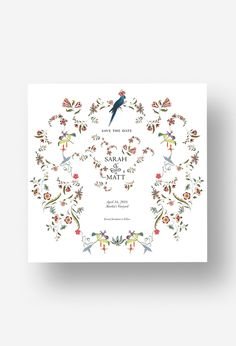 Botanique: $250.00 Limited Edition F/W '16 Save-the-Date by Stephanie Fishwick