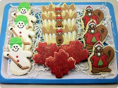 The Sugar Tree: It's beginning to look a lot like Christmas.sort of Tree Cookies, Gingerbread Cookies, Christmas Cookies, Canadian Things, I Am Canadian, Office Christmas, Canada Day, Christmas Themes, Baked Goods