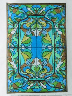 Melody R. (Under 12 division) from Art Nouveau Windows Stained Glass Coloring Book: http://store.doverpublications.com/0486277100.html