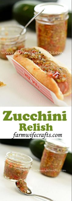 Zucchini Relish Looking for something to do with all that zucchini in your garden? This zucchini relish is so good! My family prefers it over pickle relish. Relish Recipes, Canning Recipes, Canning Tips, Tapas Recipes, Recipies, Cuisine Diverse, Pickle Relish, Pesto, Clean Eating