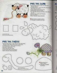 ARTE COM QUIANE - Paps,Moldes,E.V.A,Feltro,Costuras,Fofuchas 3D: 8 moldes ovelha e.v.a feltro tecido