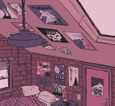 & are yuzu's rooms. Aesthetic Images, Aesthetic Backgrounds, Aesthetic Art, Aesthetic Anime, Pretty Art, Cute Art, Bedroom Drawing, Bg Design, 8bit Art
