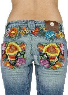 I need me some embroidered butt jeans.