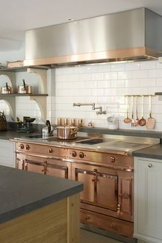 Copper Appliances in Edwardian style kitchen by Artichoke