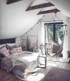 Scandinavian Bedroom Design Scandinavian style is one of the most popular styles of interior design. Although it will work in any room, especially well . Cozy Bedroom, Bedroom Inspo, Design Bedroom, Bedroom Bed, Bedroom Romantic, Modern Bedroom, Bedroom Inspiration, Bedroom Storage, Contemporary Bedroom