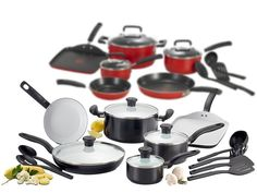 T-fal Nonstick Cookware Sets - 2 Styles for $54.99 - $64.99