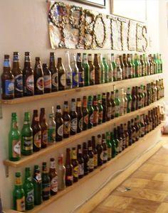 beer bottle display ideas | 99 bottles of beer on the wall.... More