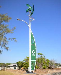 Charming Hybrid Wind/solar Street Light Installed In Darwin, Australia Images