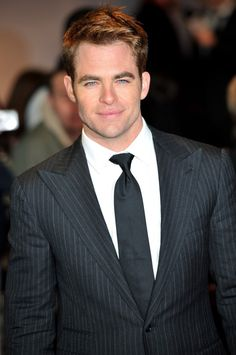Chris Pine at the UK premiere of her new movie, This Means War, on Monday (January 30, 2012) in London, England.