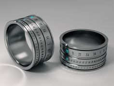 Ring Clock' is a watch with the design of a ring by Hungarian industrial designer Gusztáv Szikszai