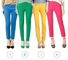 Pantalones de color brillante