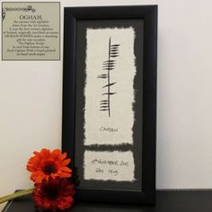 Ogham hand painted ancient irish writing baby gift name date weight ogham hand painted ancient irish writing baby gift name date weight negle Choice Image