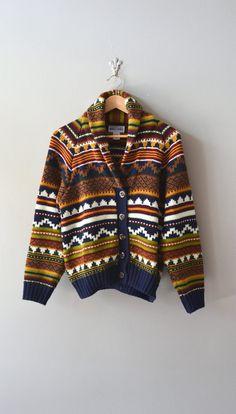southwestern sweater / colorful cardigan / oversized by DearGolden, $54.00