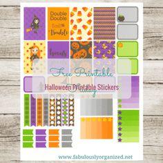 Free Printable Friday Halloween Stickers