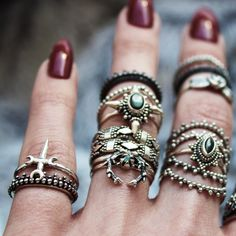 ✧☆✧ We've got that winter stack ON POINT even if we do say so ourselves ✧☆✧ shopdixi.com ☆ dixi // jewellery // jewelry // boho // bohemian // grunge // goth // dark // mystic // magic // witchy // christmas // festive // presents // gifts