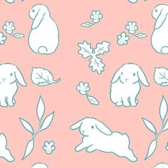 french lop rabbit fabric More