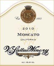 "Ken's wine review of 2010 V Sattui Dessert & Ice Wine ""Moscato"""