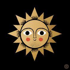 By Tad Carpenter Sun Moon Stars, Sun And Stars, Sun Illustration, Illustrations, Good Day Sunshine, Hello Sunshine, Food Graphic Design, Sun Tattoos, Sun Art