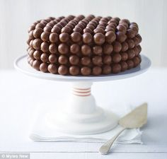 made this today - great chocolate sponge, choc buttercream and maltesers - total chocolate overload, but sooooo good: malteser cake by Lorraine Pascale