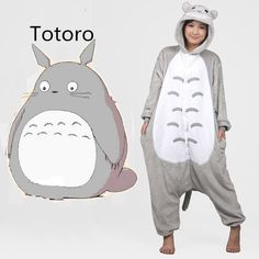 Plus Size New 2015 Full Flannel Totoro Pijamas Pajamas Pyjamas For Womens Adult Onesies SleepWear Home For Clothing AS XXL | @giftryapp