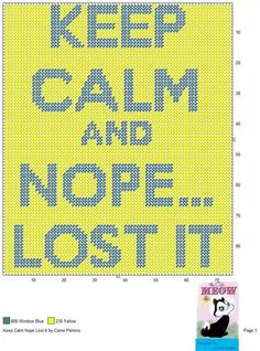 KEEP CALM NOPE LOST IT by CARRIE PERKINS