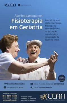 """Arte """"Fisioterapia em Geriatria"""" para o CEAFI."""