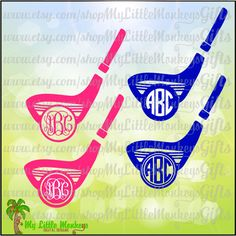 Golf Club Monogram Base Golf Design Digital Clipart and Cut File Jpeg Png SVG EPS DXF Instant Download - pinned by pin4etsy.com