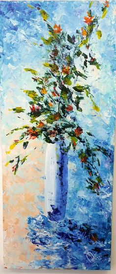 Galina Payne Vase of Flowers acrylic on canvas Flower Vases, Flowers, Landscape Paintings, Artisan, Oil, Abstract, Canvas, Artwork, Summary
