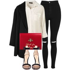 Untitled #6657 by laurenmboot on Polyvore featuring moda, Topshop, Agnona, Gianvito Rossi and Gucci